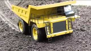 getlinkyoutube.com-1/12 RC 777 Haul truck and RC Dozer LANDSCAPING  PART 3