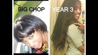 4 Years Natural Hair Journey:Hip Length from Big Chop