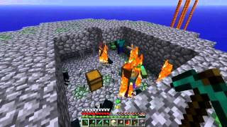 getlinkyoutube.com-Minecraft Sky Islands (PL) part 6 - Spawner potworów