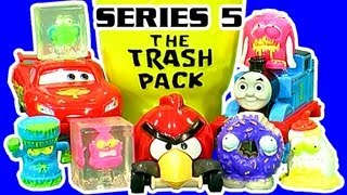 getlinkyoutube.com-The Trash Pack Series 5 Vs Lightning McQueen Angry Birds Thomas The Tank Hot Wheels Chuggington