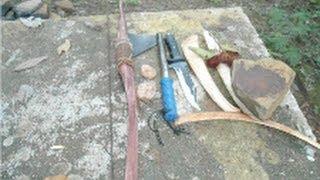 getlinkyoutube.com-Arco primitivo para caça(bow primitive) Feito na mata!!!!