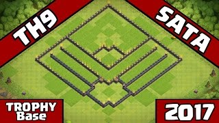 getlinkyoutube.com-New UPDATED Town Hall 9 (TH9) TROPHY Base Design!! [TH9 Defense] Clash of Clans - SATA + Replays