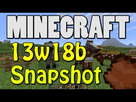 Minecraft Snapshot 13w18b (MORE CHESTS! HAY BALE! COAL BLOCK!)