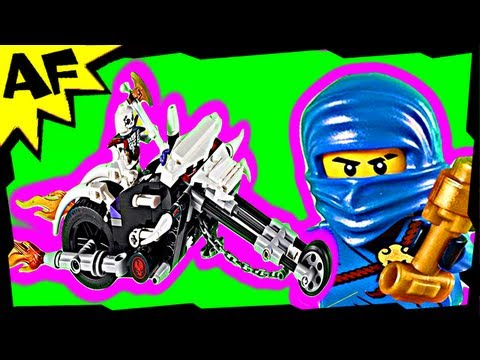 Lego Ninjago Jay & SKULL MOTORBIKE 2259 Animated Building Review