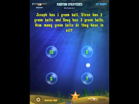 Word Problems - Addition Strategies : 1st Grade Splash Math App