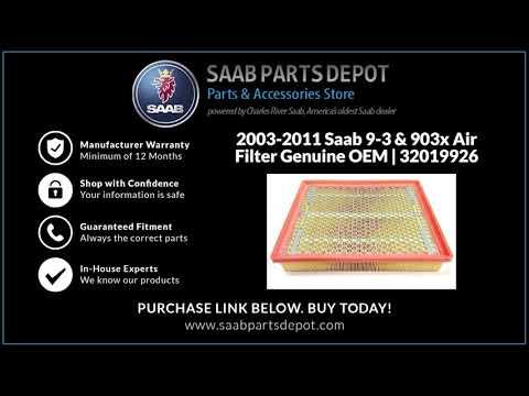 2003-2011 Saab 9-3 & 9-3x Air Filter ... OEM | 32019926