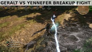 getlinkyoutube.com-Witcher 3 - Geralt vs Yennefer breakup fight - Death March NG+