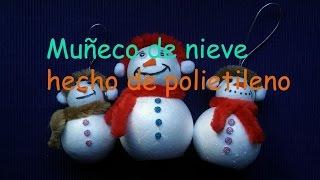 getlinkyoutube.com-Muñeco de nieve  hecho de polietileno