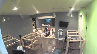 getlinkyoutube.com-Time Lapse of Surprise Craft Room Build w/ Reveal