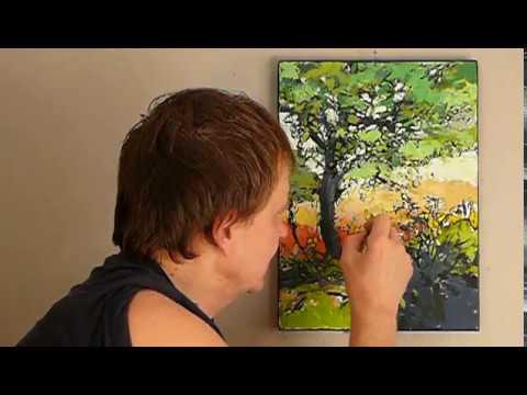 Jak malować farbami olejnymi - PEJZAŻYK 4 cz.4