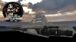 getlinkyoutube.com-Star Wars Battlefront II Mods (PC) HD: Attack on Venator: TCW Venator Star Destroyer | Clone Wars