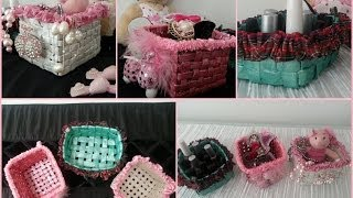 getlinkyoutube.com-DIY Room Decoration /  Recycled Newspaper Into Basket