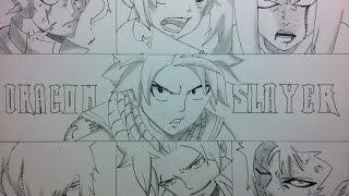 getlinkyoutube.com-Speed Drawing  Dragons Slayers - Fairy tail