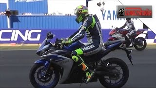 getlinkyoutube.com-YZF-R3 Mini Race Rossi + Lorenzo + Espargaro + Smith ปะทะเดชา + เฉลิมพล