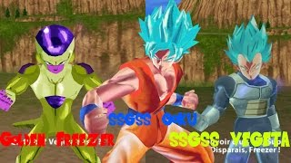 DBZ Tenkaichi Tag Team Mods Xenoverse SSGSS Goku SSGSS Vegeta VS Golden Freezer