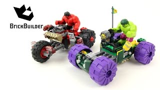 Lego Super Heroes 76078 Hulk vs. Red Hulk - Lego Speed Build