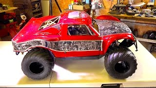 getlinkyoutube.com-RC ADVENTURES - We went too far!! OBR 46cc 12hp Gas Engine w/ Silenced Pipe in 4x4 Concept Truck