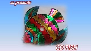 How to make fish using CD'S /Recycled CD Crafts ideas /Best out of the waste crafts