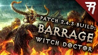 getlinkyoutube.com-2.4.3 Witch Doctor Spirit Barrage Build - Diablo 3 Reaper of Souls PTR (Season 9)