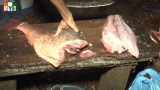 getlinkyoutube.com-FISH CUTTING 2 - GOA STREET FOOD - WORLD STREET FOOD