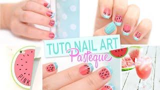getlinkyoutube.com-Tuto Nail Art estival : Pastèque ♡
