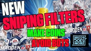 getlinkyoutube.com-MADDEN MOBILE 17 NEW SNIPING FILTERS! COIN METHOD TO AVOID BOTS AND MAKE PROFIT! Madden Mobile 17