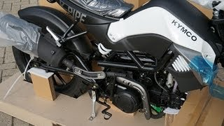 getlinkyoutube.com-Kymco K-Pipe 125 unboxing/uncrating and assembly time lapse