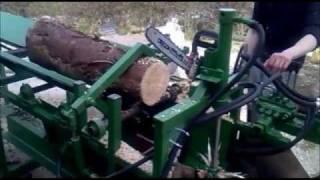 getlinkyoutube.com-Homemade Firewood Processor - Log Splitter