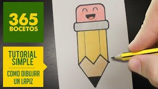 getlinkyoutube.com-COMO DIBUJAR UN LAPIZ KAWAII PASO A PASO - Dibujos kawaii faciles - How to draw a pencil