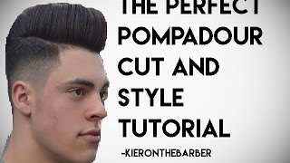 getlinkyoutube.com-The Perfect Pompadour   - Kieron The Barber -