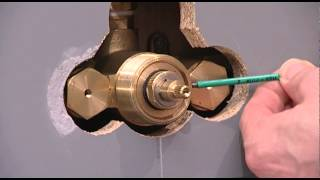 getlinkyoutube.com-Concealed shower valve - Thermostatic cartridge (brass): maintenance, replacement and calibration