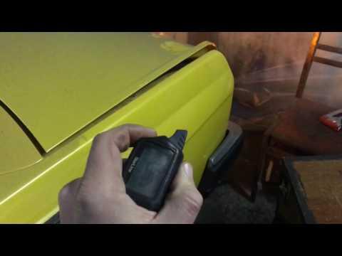 Открытия багажника с брелока Москвич 2140