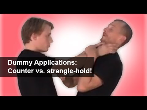 Wing Chun Wooden Dummy application - section 3 - Defense against front strangle