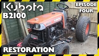 getlinkyoutube.com-Kubota B2100 Compact Tractor Restoration | Episode Four | Cab Removal
