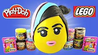 getlinkyoutube.com-JUMBO WyldStyle LEGO Movie Play Doh Surprise Egg Frozen WWE Shopkins MyLittlePony TMNT Mashems