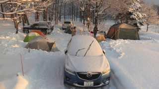 getlinkyoutube.com-2014年 快適過ぎる極寒キャンプ in 猪苗代湖