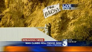 getlinkyoutube.com-Sneaking On The HOLLYWOOD SIGN!