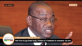 Présidentielle 2019: Point de Presse du Juge Demba Kandji