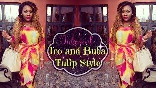 getlinkyoutube.com-Tutorial: How to tie and wear Tulip Style Iro and Buba