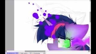 getlinkyoutube.com-The Darkness Is Taking Over : Twilight Sparkle Speedpaint