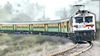 getlinkyoutube.com-First Time WAP7 with DURONTO Express | HWH -YPR | Indian Railways