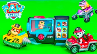 getlinkyoutube.com-PAW PATROL Nickelodeon Pup Mission Pad with Rubble Skye and Chase New Paw Patrol Toys