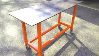 getlinkyoutube.com-How to build a basic welding table from scrap
