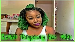 getlinkyoutube.com-Temporary Color Using Jerome Russell Hair Spray on Natural Hair