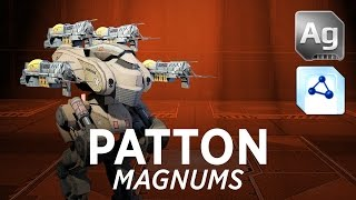 getlinkyoutube.com-Walking War Robots Patton Gameplay: Magnums