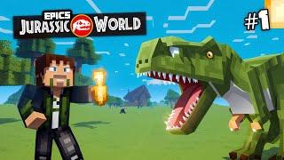 getlinkyoutube.com-EPiC'S Jurassic World: MINECRAFT DINOSAURS | Custom Modded Survival [Minecraft 1.8 Roleplay]