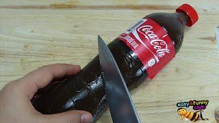 getlinkyoutube.com-ขวดโค้ก..กินได้นะ How to make edible real cola bottle shape pudding jello gummy ,Learn Recipe