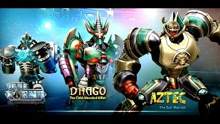 getlinkyoutube.com-Real Steel WRB FINAL DRAGO | AZTEC | DARK FIEND ROBOTS Series of fights NEW ROBOT (Живая Сталь)