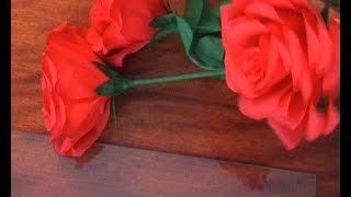 DIY Розы из гофрированной бумаги. Украшение стола. Украшение праздника. День святого Валентина