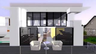 getlinkyoutube.com-The Sims 3 Modern House California Costal